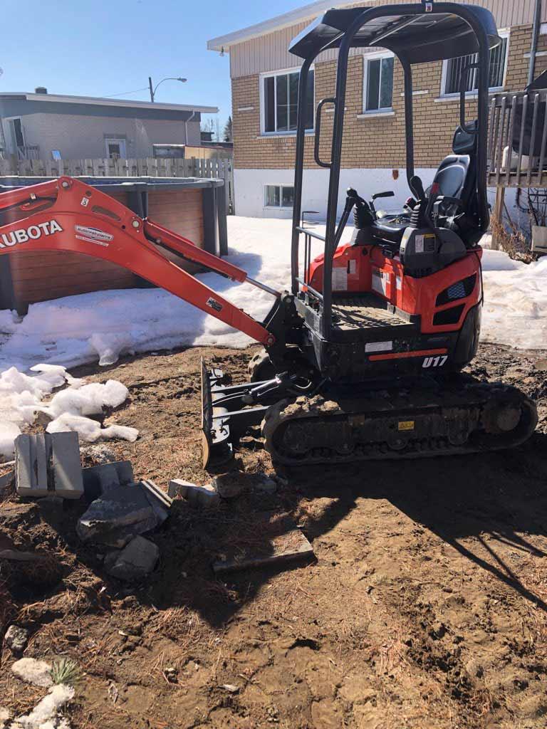 Excavation aménagement paysager Laval